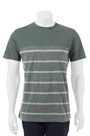 URBAN JEANS CO Pineapple texure stripe crew  neck tshirt