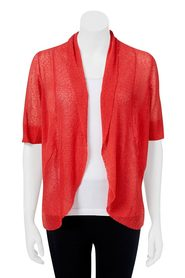 SAVANNAH Short Sleeve Shawl Cardigan