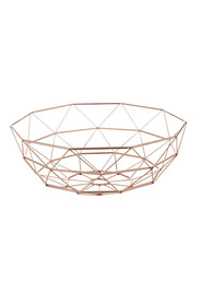 SOREN WIRE STORAGE BASKET ROSE GOLD