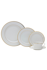MIKASA Haley 20 Piece Dinnerware Set Gold