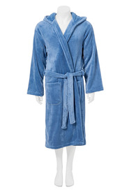 BRONSON Hooded fleece gown