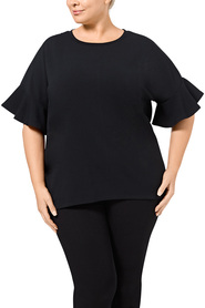 KHOKO COLLECTION Astrid Textured Top    Plus Size