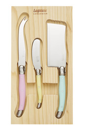 LAGUIOLE SOVEREIGN 3 Piece Pastel Cheese Knife Set