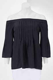 SIMPLY VERA VERA WANG Pleated Off The Shoulder Blouse