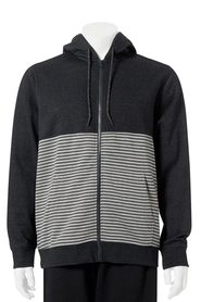 URBAN JEANS CO Printed Stripe Splice Hoody