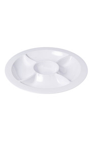 Soren white melamine 5 section tray