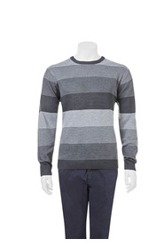 BRONSON Striped crew neck knit