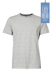 URBAN JEANS CO Stripe speckle crew tshirt