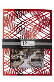 Saunders rect placemat 8 pack red
