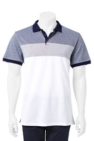 URBAN JEANS CO Engineered stripe polo
