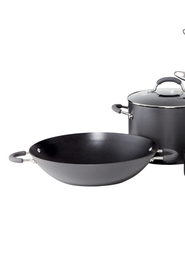 RACO  Reliance Hard Anodised 36Cm Open Wok With 2 Help Handles
