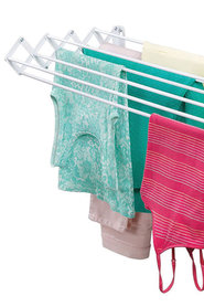 INTERDESIGN Brezio Wall Mounted Accordion Clothes Drying Rack