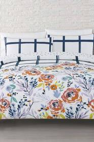 MOZI Floral fun cotton percale quilt cover set db