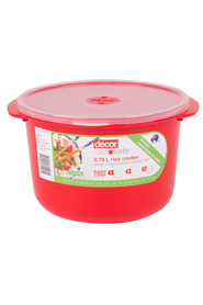 DECOR Microsafe Microwavable Rice Cooker 2.75Litre