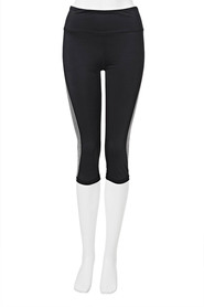 LMA ACTIVE Womens Side Print Crop Legging