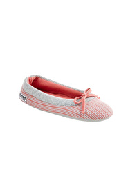 GROSBY BOW FRONT PRINTED BALLET SLIPPER