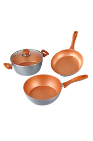 FLAVORSTONE 28Cm flavorstone masterchef 4 pc set limited edition copper color