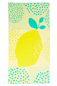 MOZI Velour Beach Towel Lemon Fun 90x180cm