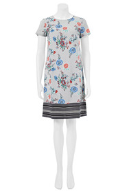 KHOKO Kendall Floral Print Shift Dress