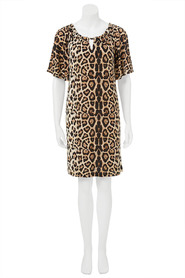 CHERRYLANE LEOPARD TUNIC DRESS 77733HC