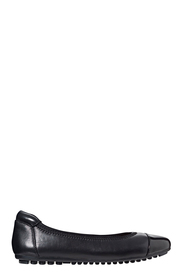 HUSH PUPPIES Patent Toe Cap Leather Ballet