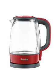 Breville glass kettle c/berry bke480crn