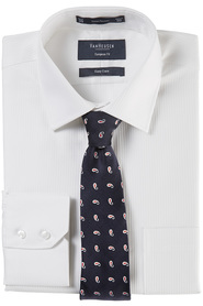VAN HEUSEN Self Stripe European Fit Shirt