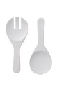 SHAYNNA BLAZE Haven Wash Salad Server Set White 2pc