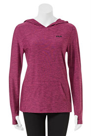 FILA WOMENS QUICKDRY LONG SLEEVE HOODY