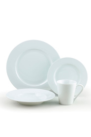 SOREN 16 Piece Rimmed Dinner Set White