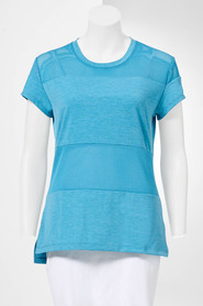 SIMPLY VERA VERA WANG Women'S Sorrento Mesh Panel Tee