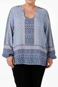 Tania kay boho border tunic may-sh05