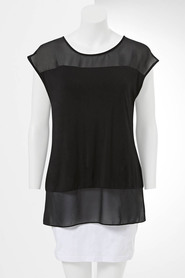 SIMPLY VERA VERA WANG Sheer Panel Top