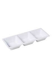 Soren white melamine 3 section tray