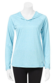 LMA ACTIVE Womens Core Long Sleeve Spacedye Hoody