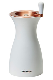 S&p spice 18cm peppr mill wht/rose gold