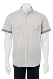 URBAN JEANS CO Dobby texture short sleeve shirt