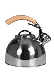 SMITH & NOBEL  2.5L whistling kettle with rubberwood handle