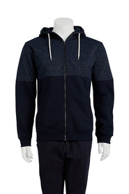 URBAN JEANS CO Spliced zip thru hoody