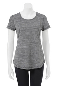 LMA ACTIVE Womens space dye scoop tee