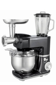 SMITH & NOBEL 1300W Stand Mixer Plus Grinder and Blender Black