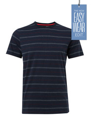 URBAN JEANS CO Jacquard stripe crew neck tshirt
