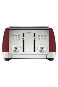 SUNBEAM London 4 slice toaster ruby red