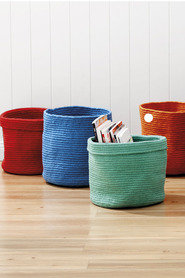 Belize storage basket orange 01127d772
