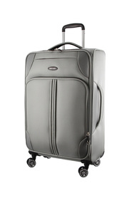 PIERRE CARDIN Light Weight 71cm Large Soft Suitcase Grey