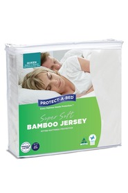 PROTECT A BED Bamboo Jersey Mattress Protector QB