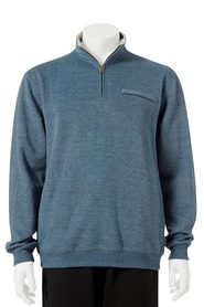 BRONSON Solid Quarter Zip French Rib Top
