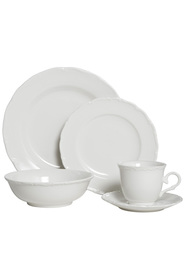 CASA DOMANI Casual White Florence Dinner Set 20 Piece Gift Boxed