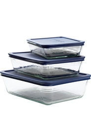 PYREX  Glass Oblong Food Storage 6Pc