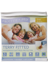 PROTECT A BED Waterproof terry Mattress Protector QB